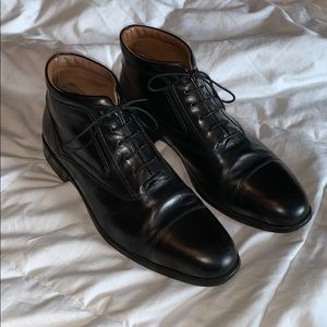 Johnston & Murphy Black Leather Ankle Boot